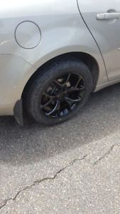 Performance summer tires and rims