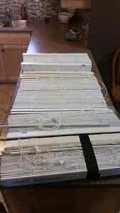 White Faux Wooden Blinds $20 each