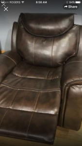Recliner chair and love seat