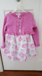 24 month dress with matching sweater and bloomers