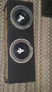 Jl speaker with clairon amp with kenwood dack