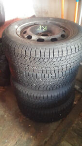 195/65R15 Ironman Trax snow tires on rims