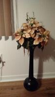 Pot et fleur décoratif