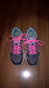 Girls Size 3 Asics running shoes