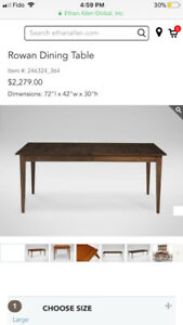 Real wood dining table and 6 chairs