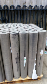 Green mineral roll of shed felt 10 m long