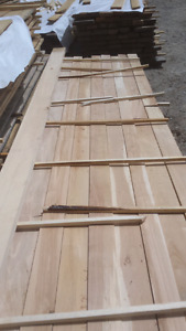 Hardwood lumber  $1.25 a board foot.