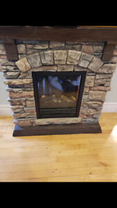 Electric fireplace.