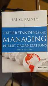 Queen's Business or Master's of Public Administration textbooks
