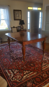 antique solid walnut dining table