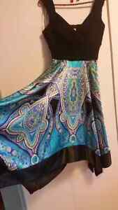 Black and turquoise kerchief dress size 6