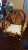 2-Over Sized Rattan Chairs