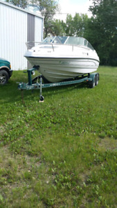 24 ft chaparral boat with cutty cab.