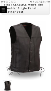 First Manufacturing co Mens XXL Leather Vest