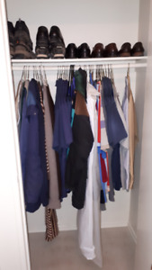 assortment of men's clothes and shoes