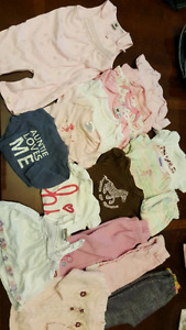 18 items girls 3-6 months clothing