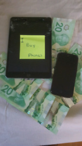 I buy phones iPads iPod and tablets