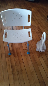 Medical shower chair and handle