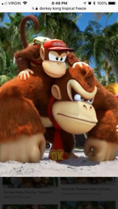 Donkey Kong tropical freeze wii u $20
