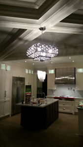 Chandelier installation by Certified Electricians