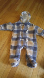 6-12 month fleece suit