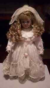 Porcelain doll with stand Windsor Region Ontario image 1