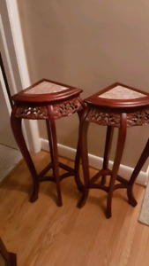 Tall Accent Tables with Marble Top 3ft tall