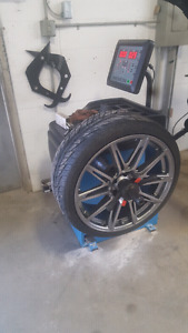 "$39.99 ( 4 tires mount/balance 14"" and up"