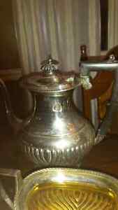 SHIMMERY SILVERPLATED VINTAGE GEORGIAN 4 PC COFFEE/TEA SET Oakville / Halton Region Toronto (GTA) image 3