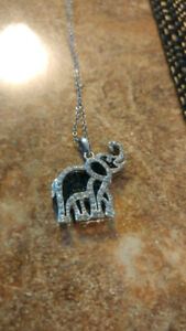 925 lucky elephant silver necklace