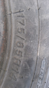set of 2  175/65 R14 tires like new
