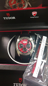 FS NEW Tudor fastrider chrono ducati red - $2900