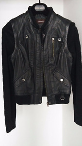 Danier leather jacket  XXS - new - for sale - removable sleeves