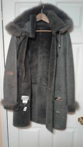 MODERN Women/Man Sheepskin Coat & Hood,...50%OFF