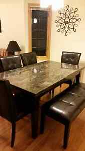 Beautiful Marble Top Dining room Table and Chairs