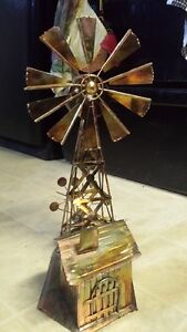 VINTAGE BERKELEY WINDMILL COPPER RUSTIC MUSIC BOX SANKYO