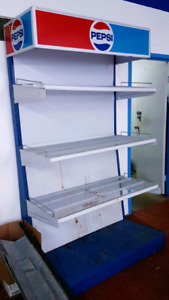 PEPSI 4 tiered Display Shelf for Bottles and  Cans of Beverage