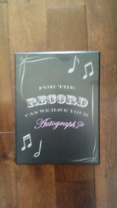"""""""For the Record"""" Wedding guest plaque"""