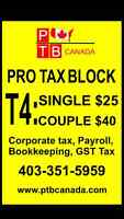 CALGARY TAX PREPARATION************PRO TAX BLOCK
