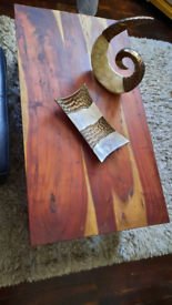 Rustic coffee table capiz twist and platter available separately