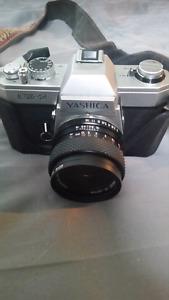Vintage (1976) Yashica FX-2 35mm SLR camera.