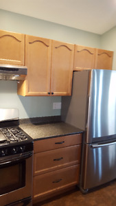 COMPLETE MAPLE UPPER/LOWER KITCHEN CABINETS SINK & COUNTERTOPS