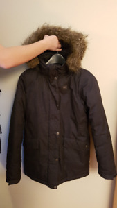 MEC youth winter parka size 14 in charcoal - like new