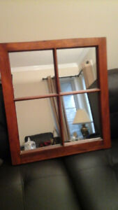 Wood Mirror (24.5 inches wide by 26.5 tall)