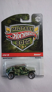 HOT WHEELS MILITARY RODS HUMVEE DIECAST MINT
