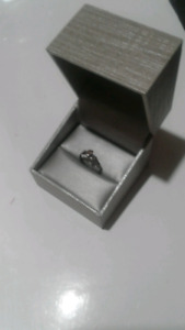 Sterling silver ring and chain with cross