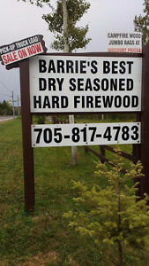 Barrie's Best deals on hard dry Campfire Wood open Friday & Sat