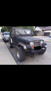 1989 Jeep YJ with Brand New 33s!