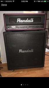 Randall stack amps RH100 two piece no footswich