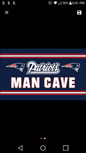 Brand new 3' by 5' New England Patriots Man Cave Flag
